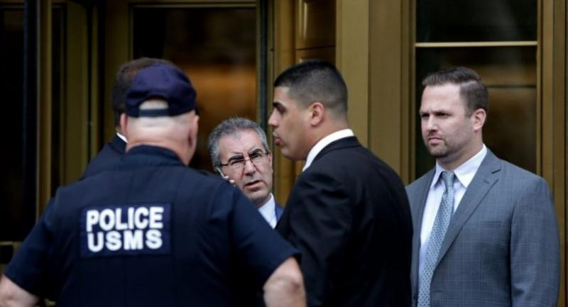 Police gather before Michael Cohen, former lawyer to U.S. President Donald Trump, exits the Federal Courthouse on August 21, 2018 in New York City./AFP