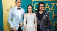 British-Malaysian actor/cast member Henry Golding (L-R) US actress/cast member Constance Wu and US book author/executive producer Kevin Kwan attend the US premiere of 'Crazy Rich Asians' in Hollywood on August 7.//EPA-EFE.