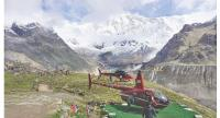 Helicopters parked at Annapurna Base Camp.POST FILE PHOTO