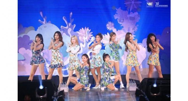 The girl group goes flowery for a song.