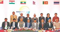 Foreign ministers from the member states of BIMSTEC pose for a photo during the ministerial meeting in Kathmandu.Hemanta Shrestha.