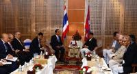 Prime Minister KP Sharma Oli on Friday held a bilateral meeting with Thailand's Prime Minister Prayut Chan-o-cha on the sidelines of BIMSTEC summit.Photo: Hemanta Shrestha