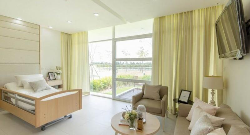 A patient room in one of the hospice buildings at Baan Phing Phak (Pink Park Village), a comfortable and comforting place where an underprivileged terminally ill women suffering from stage 4 breast cancer can spend her last days in peace.