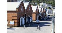Few tourists are seen at a quiet bay area in Hakodate, Hokkaido, on Tuesday./The Japan News