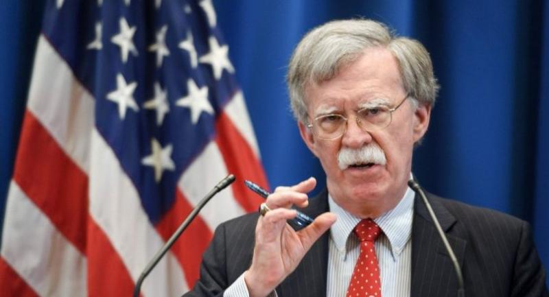 In this file photo taken on August 23, 2018 US National Security Advisor John Bolton addresses a press conference following a meeting with his Russian counterpart at the US Mission in Geneva./AFP