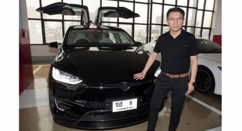 Baromkoch Leenutaphong is an avid fan of Tesla electric vehicles.