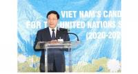 Deputy Prime Minister and Foreign Minister Phạm Bình Minh speaks during a programme in New York on Wednesday on the sidelines of the 73rd session of the UN General Assembly. — VNA/VNS Photo Hoài Thanh