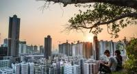 The Garden Hill is the best vantage point from which to admire the sunset over Sham Shui Po.