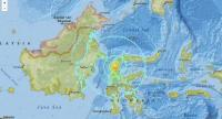 A map shows the area of an earthquake that hit Central Sulawesi on Friday. (File/-)