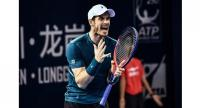 Andy Murray of Britain reacts during his men's singles match against Fernando Verdasco of Spain.