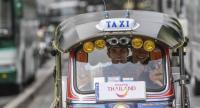 MotoGP star Marc Marquez enjoys driving local Tuk-tuk in Bangkok.