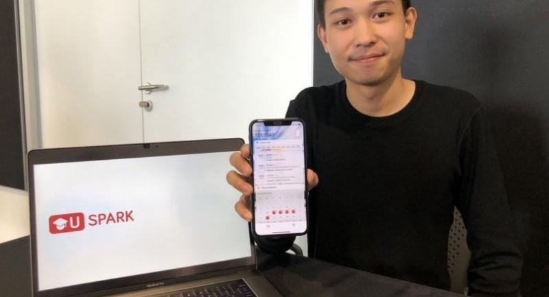 Kiratijuta Bhumichitr, or Fair, 25, is winning over students with his U Spark app.