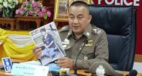 Deputy National Police commissioner General Srivara Ransibrahmanakul yesterday shares with reporters the progress in the investigation of a case of bearcat hunting at a park in Kanchanaburi.