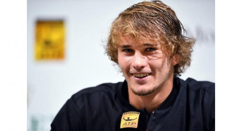 Alexander Zverev of Germany attends a press conference at the Shanghai Masters tennis tournament on October 12, 2018.