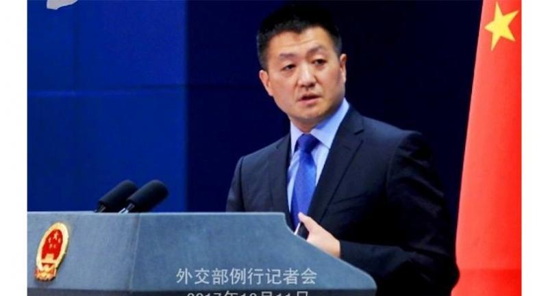Chinese Foreign Ministry spokesman Lu Kang. ─ Photo courtesy Chinese Foreign Ministry