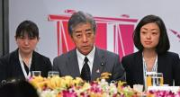 Japan's Defence Minister Takeshi Iwaya (C) speaks during the the ASEAN-Japan Defence Ministers Informal Meeting at the Association of Southeast Asian Nations (ASEAN) security summit in Singapore on October 20, 2018. (Photo by Roslan RAHMAN / AFP)