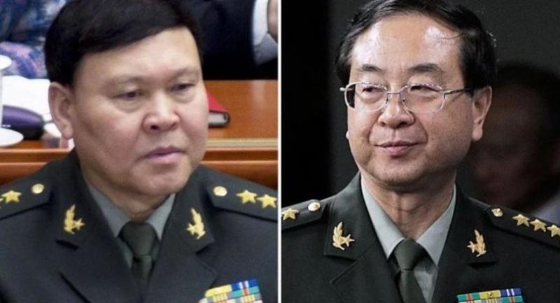 Zhang Yang, left, and Fang Fenghui