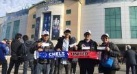 Lucky winners of TrueVisions' promotion campaign to watch the Premier League match between Chelsea and Manchester United at Stamford Bridge Stadium earlier this month.