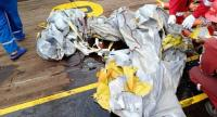 Search and rescue (SAR) personnel have recovered fabric suspected to be from Lion Air flight JT610 on Monday in the waters off Karawang, West Java.