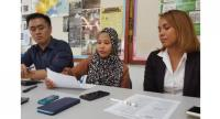 (From left) Legal aide Jubili Anilik, Siti Nafirah and her lawyer Rozana Jamaludin.