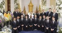 Leicester City players attend the funeral rite of their owner Vichai Srivaddhanaprapha in Bangkok.