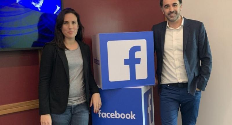 Clair Deevy, director of policy programmes for Facebook APAC, and Simon Harari, public policy manager for content at Facebook APAC