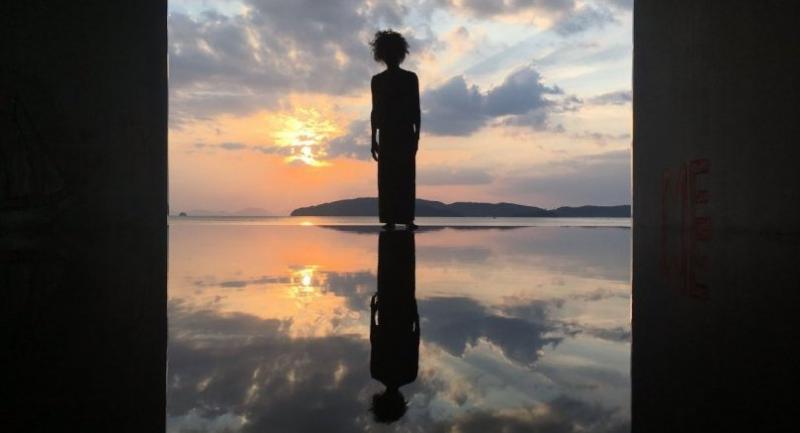 """No Sunrise No Sunset"" by Kamin Lertchaiprasert and Suriya Umpansiriratana is at the end of Ao Nang Beach./Courtesy of Kamin Lertchaiprasert"