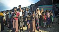 Rohingya refugees at Balukhali refugee camp in Ukhia, October 2017. PHOTO: AFP