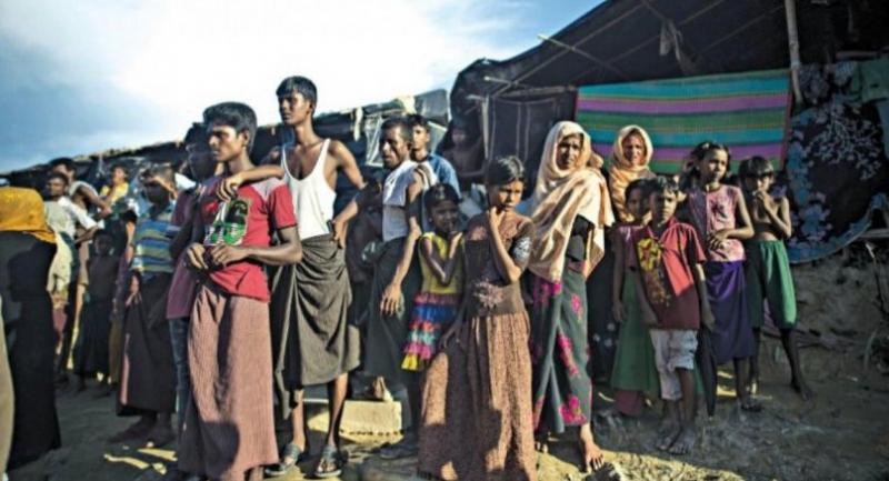 Rohingya refugees at Balukhali refugee camp in Ukhia, October 2017. PHOTO: AFP