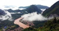 The panoramic view from Phou-Phadeng mountain in Ngoy district, Luang Prabang province.