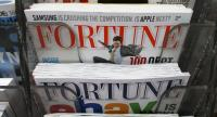 In this file photo taken on February 13, 2013, issues of Fortune magazine are for sale at a newsstand in Manhattan on February 13, 2013 in New York City./AFP