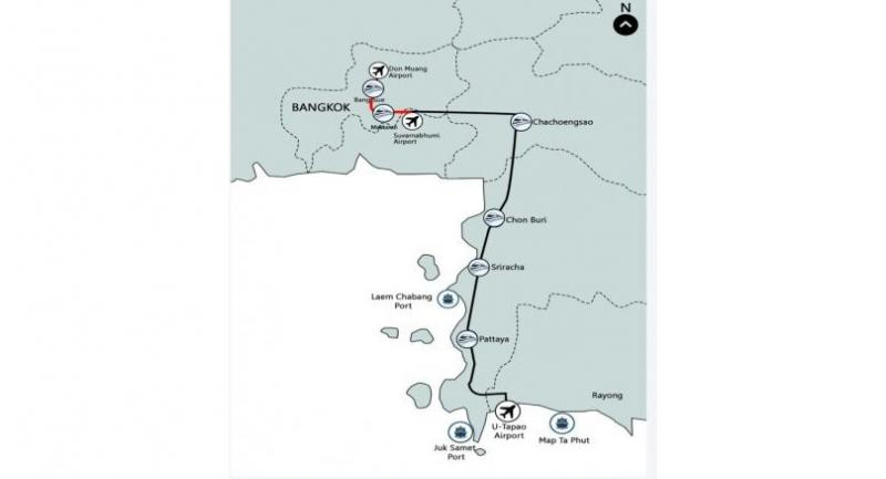 High-speed rail project. Source: Eastern  Economic Corridor Office of Thailand