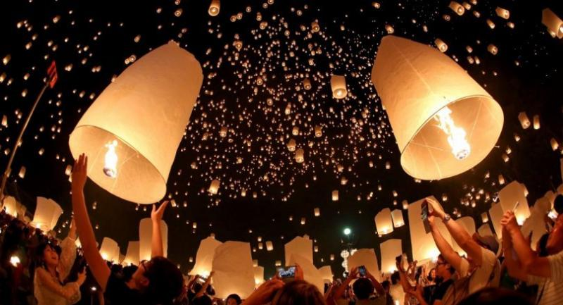 File photo: The flying lantern festival in Chiang Mai // The Nation Photo
