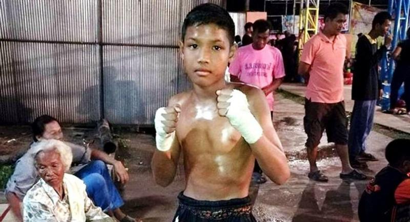 Anucha Thasako prepares for a muay thai match.  The boy, 13, succumbed to injuries after a  bout on  November 10.