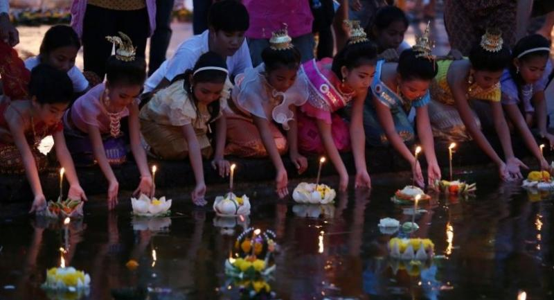 File photo: Loy Krathong festival in Sukhothai.// The Nation Photo