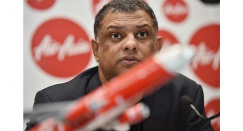 AirAsia Group CEO Tony Fernandes at a press conference in Sydney, Australia, on March 12, 2015. (AFP/Peter Parks)