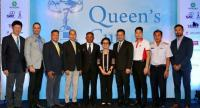 Thongchai Jaidee, 5th from left, in a photo session during the US$500,000 Queen's Cup hosted by Thongchai Jaidee Foundation press conference.