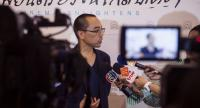 This picture taken on November 19 shows Thai director Apichatpong Weerasethakul speaking to journalists after receiving an award at the Thai Film Archive in Nakhon Pathom, outside Bangkok. //AFP