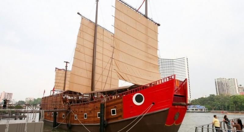 """Thailand's first floating museum the """"Sri Mahasamut Ship"""" marks the 250th anniversary of Krung Thonburi, the old capital of Siam."""