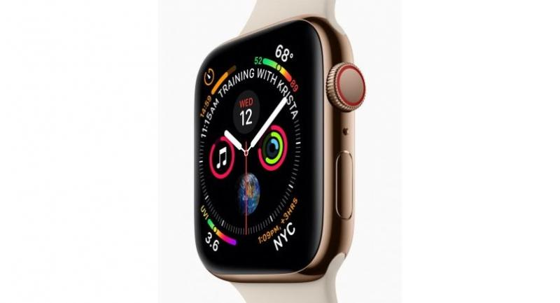 The redesigned Apple Watch Series 4 features a stunning display with thinner borders and curved corners.