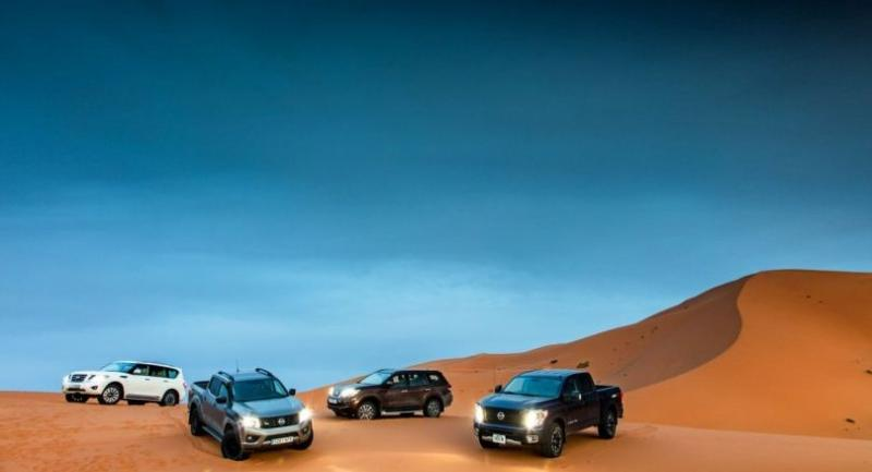 Nissan LCVs put to the test at the Moroccan sand dunes.