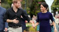 In this file photo taken on October 31, 2018 Britain's Prince Harry and Meghan, Duchess of Sussex arrive for a public walkabout at the Rotorua Government Gardens in Rotorua, New Zealand./AFP