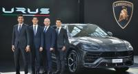 (left to right): Davide Sfrecola, Area Sales Manager South East Asia, Automobili Lamborghini M.L. Nathasit Diskul, Director of Renazzo Motor Co.Ltd, Sak Nana, Director of Renazzo Motor Co Ltd, Apichat Leenutaphong, Chairman of Renazzo Motor Co Ltd.