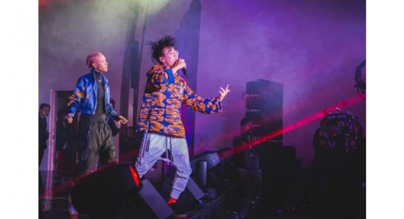 Brandon Mai, aka Tin, and RoxXxan perform at the launch of Tiger Roar Collective in South Korea.
