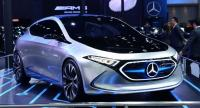 Mercedes-Benz is displaying its EQA electric concept car at Thailand's International Motor Expo 2018.