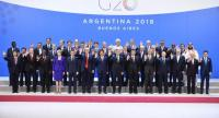 Participants of the G20 Leaders' Summit in Buenos Aires, pose for a family photo on November 30, 2018. /AFP