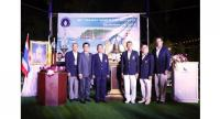 Admiral Warong Songcharoen, Phuket King's Cup Regatta Committee; Pramookpisitt Achariyachai, Chairman of Kata Group Resorts and Admiral Naris Pratumsuwan, President of Yacht Racing Association of Thailand in a photo session.