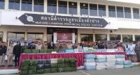 File photo  Police display 7 million methamphetamine tablets and 6,000 ecstasy pills at the Muang Lampang Police Station  earlier this week, after seizing the huge haul of illicit drugs from a major drugtrafficking gang in their area.