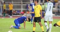Adisak Kraisorn reacts after missing the penalty kick. Nation Photo by Korbphuk Phromrekha