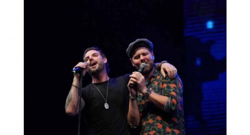 Brian McFadden of Westlife and Keith Duffy of Boyzone, now working as Boyzlife, made a success of their Thailand gig.